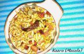 Picante puffed rice - una merienda saludable libre de gluten