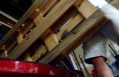 Estante de la estación de carga de la plataforma de madera flotante