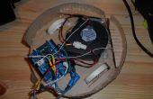 Impreso de robot aspiradora de piso - controlada por Arduino con protector de motor, con ruedas de motor