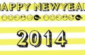 Cómo hacer una tarjeta electrónica de año nuevo en photoshop