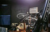 Bicicleta de bloqueo seguridad escultura