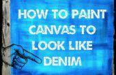 Cómo pintar un lienzo como dril de algodón