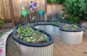 Levantado de cama de jardín de material para techos del Metal de hoja