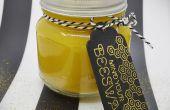 DIY: vela de cera de abeja tarro de masón