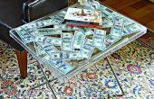 Mesa de dinero lucite
