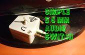 Interruptor de audio de 3,5 mm simple