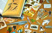 Reciclar viejos libros en pegatinas