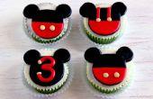 Cómo hacer Cupcake de Mickey Mouse y primeros de la torta