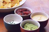 Nachos y salsas caseras