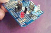 Protoboard fuente de alimentación con un interruptor deslizante para seleccionar la tensión