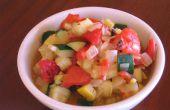 Escabeche de calabaza y ensalada de pimientos asados