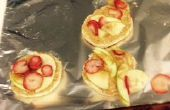 Muffins de mantequilla de cacahuete manzana