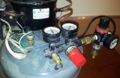 Super silencioso compresor construido fuera de un viejo refrigerador agua refrigerador