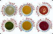Casi un arco iris de sopa: Una receta básica – Presqu'un arc-en-ciel de soupe: recette de base