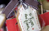 Galletas de jengibre regalo etiqueta