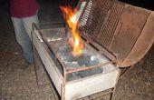 Manera fácil de encender el fuego de carbón vegetal (sin soplar). una forma facil de situado fuego al carbón vegetal (pecado soplar)