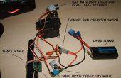 Resplandor de Blu ray en la oscura imagen dibujo robot