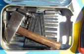 Tamaño de bolsillo del bricolaje manitas caja de herramientas, Feat. Inicio hecho destornillador