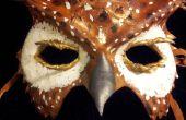 Máscara de búho de cuero