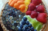 Tarta de frutas de gráfico