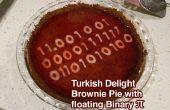 Pastel de Brownie delicias turcas w flotante binario Pi