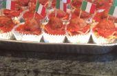 Cupcakes de albóndigas y espaguetis