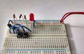 Construir una puerta y de los transistores