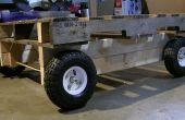 Plataforma de madera ciclo Cam carretilla Repurposed bricolaje móvil plataforma carro