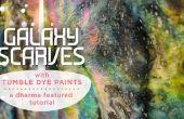 Bufandas de la galaxia con secadora tinte pinturas