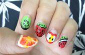 Fruta DIY de uñas