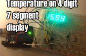 Temperatura aparece en la 4 dígitos 7 segmentos (ánodo común)