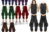 HOLGADOS y recortada: pantalones del dril de algodón/de color caqui recortada