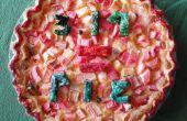 Ruibarbo natillas Pi = Pie