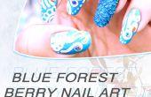 Baya azul bosque Nail Art Design