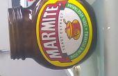 ¿Upcycled Marmite Jar té luz