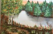 Pintura acrílico paisaje