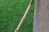 Cómo hacer una manija de cuero para un bastón