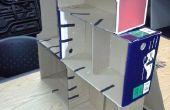 Estante de la caja de zapatos (cartón)