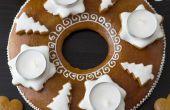 Como hacer corona de Adviento de pan de jengibre (montaje Tutorial)
