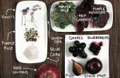Alimentos púrpura! Colorida cocina sin colorantes artificiales.