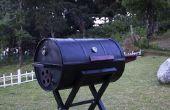 Parrilla portable del BBQ del barril
