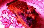 Más delicioso, húmedo pastel de baya almendra: lácteos azúcar libre de Gluten/caña