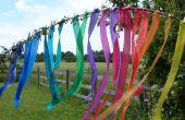 Cintas arco iris de seda