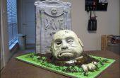 Cómo hacer un esculpido pastel de zombie.