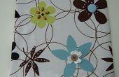 Arte de pared de panel de tela con adornos