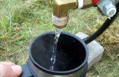 Calentador de agua de campamento con una función de distribución fácil de usar