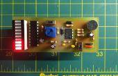 Mini decibelios - un medidor de volumen simple con un micrófono electret y LM3916