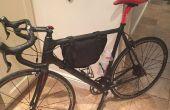 Antigua mochila para bicicleta bolsa de marco