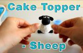 Cómo hacer un azúcar pasta de glaseado Fondant ovejas Topper de la torta