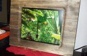 """17"""" marco de fotos hecho de sola pieza madera losa (para marco de Fotos Digital)"""